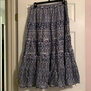 Long skirt size XL navy white